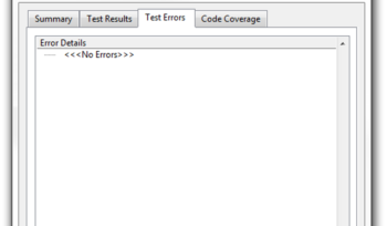 Successful UTF test resutl