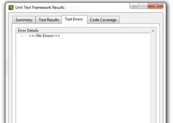 Successful UTF test resutl